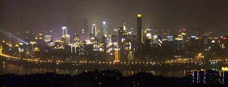 中心街夜景遠景